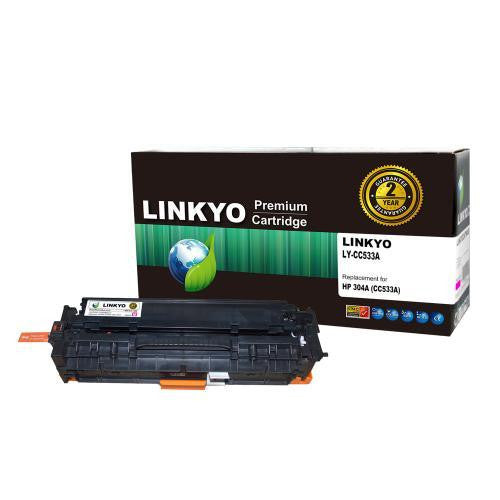LINKYO Replacement Magenta Toner Cartridge for HP 304A CC533A