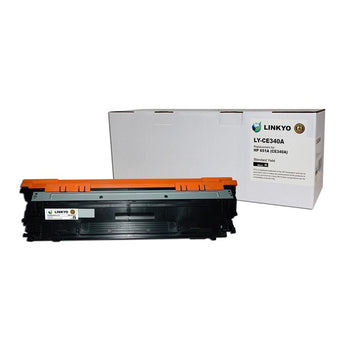 LINKYO Replacement Black Toner Cartridge for HP 651A CE340A