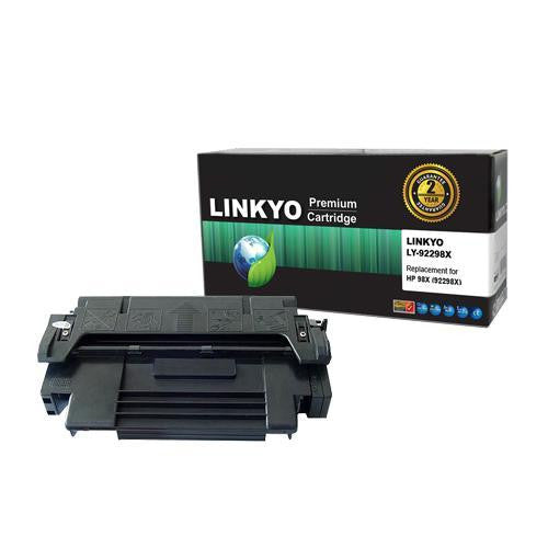 LINKYO Replacement Black Toner Cartridge for HP 98X 92298X