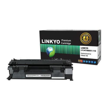 LINKYO Replacement Black Toner Cartridge for Canon 119