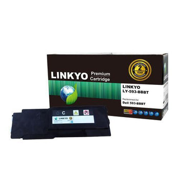 LINKYO Replacement Cyan Toner Cartridge for Dell C2660dn, C2665dnf
