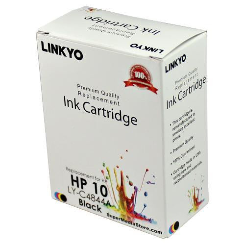 LINKYO Replacement Black Ink Cartridge for HP 10