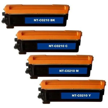 Replacement Brother TN210 4-Color Toner Cartridges Set - Black, Cyan, Magenta, Yellow