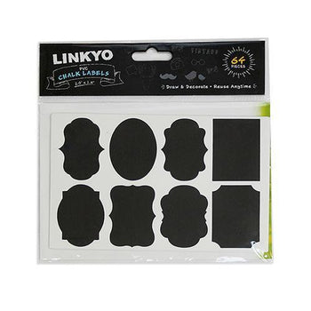 LINKYO 64 Premium Assorted Chalkboard Labels (2