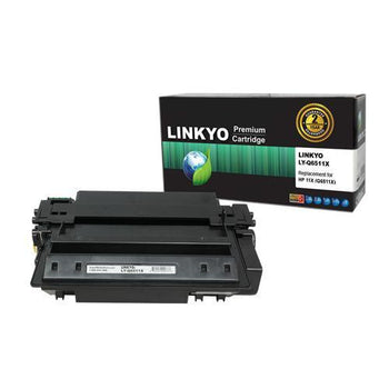 LINKYO Replacement Black Toner Cartridge for HP 11X Q6511X
