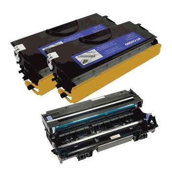 LINKYO Replacement Toner and Drum Set for Brother TN560 and DR500 (2x TN560, DR500)