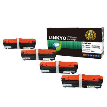 LINKYO Replacement 4-Color Toner Set for Samsung 506L (CLP680ND, CLX6260FD)