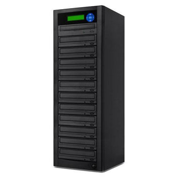 SuperMediaStore 1 to 11 DVD Duplicator (Economic Line) built-in Asus 24X Burner, Black Casing - Retail