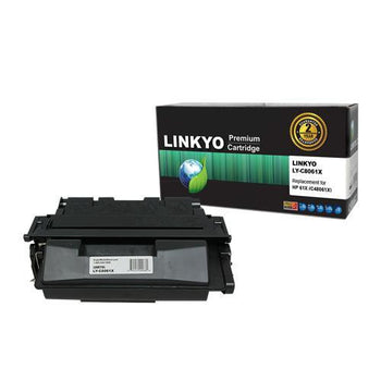 LINKYO Replacement Black Toner Cartridge for HP 61X C8061X