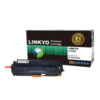 LINKYO Replacement Black Toner Cartridge for HP 304A CC530A