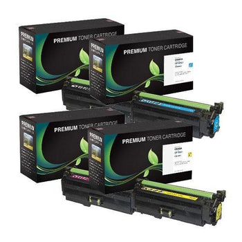 LINKYO Replacement 4-Color Toner Set for HP 507A (Black, Cyan, Magenta, Yellow)