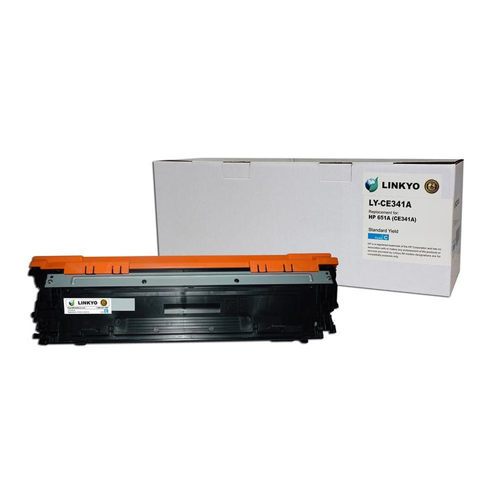 LINKYO Replacement Cyan Toner Cartridge for HP 651A CE341A