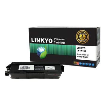 LINKYO Replacement Black Toner Cartridge for Brother TN430 (FREE Upgrade to High Yield TN460)