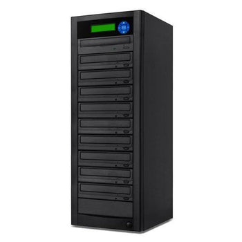 SuperMediaStore 1 to 9 DVD Duplicator (Economic Line) built-in Asus 24X Burner, Black Casing - Retail