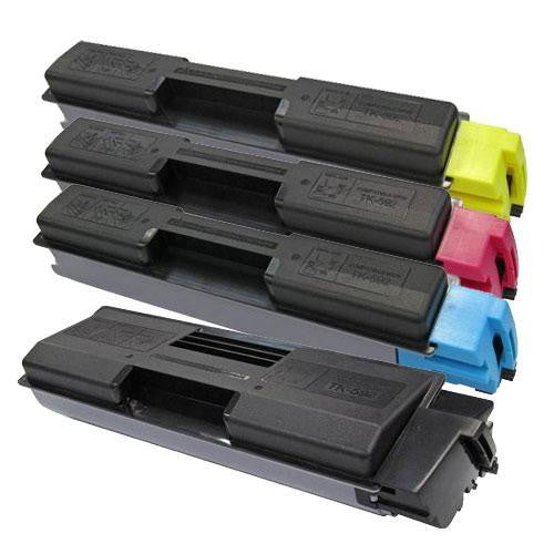LINKYO Replacement 4-Color Toner Set for Kyocera TK-592 (Black, Cyan, Magenta, Yellow)