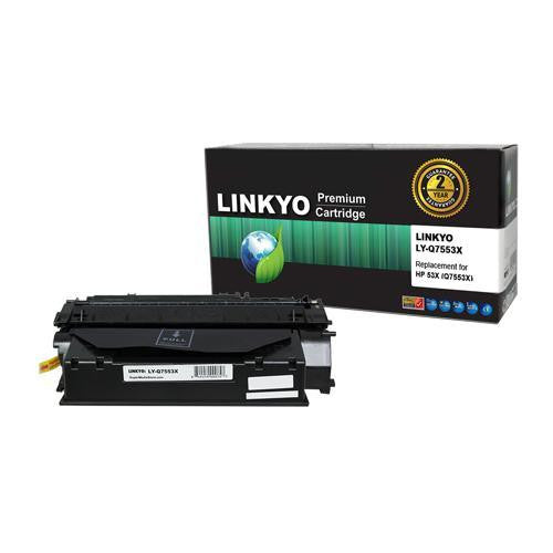 LINKYO Replacement Black Toner Cartridge for HP 53X Q7553X