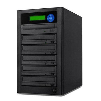 SuperMediaStore 1 to 5 DVD Duplicator (Economic Line) built-in Asus 24X Burner, Black Casing - Retail
