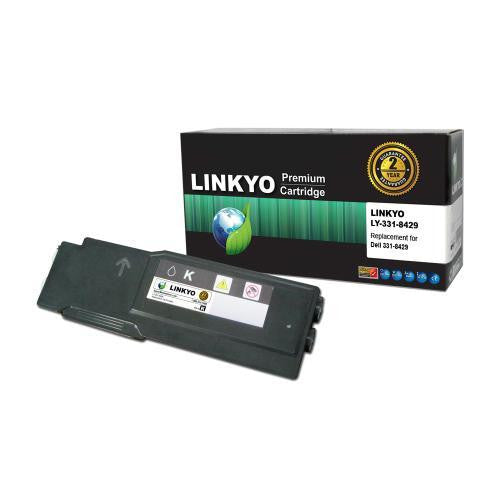 LINKYO Replacement Extra High Yield Black Toner Cartridge for Dell C3760, C3765