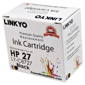 LINKYO Replacement Black Ink Cartridge for HP 27