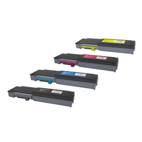 LINKYO Replacement 4-Color Toner Set for Xerox 6600 6605 (Black, Cyan, Magenta, Yellow)