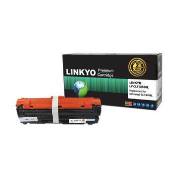 LINKYO Replacement Magenta Toner Cartridge for Samsung CLT-M506L (CLP680ND, CLX6260FD)