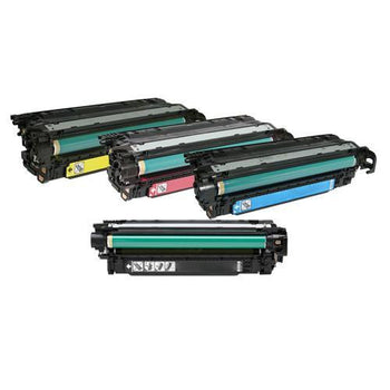 LINKYO Replacement 4-Color Toner Set for HP 504A (Black, Cyan, Magenta, Yellow)