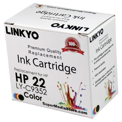LINKYO Replacement Tri-Color Ink Cartridge for HP 22