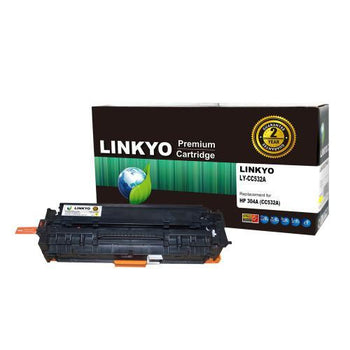 LINKYO Replacement Yellow Toner Cartridge for HP 304A CC532A