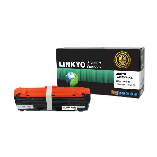 LINKYO Replacement Cyan Toner Cartridge for Samsung CLT-C506L (CLP680ND, CLX6260FD)