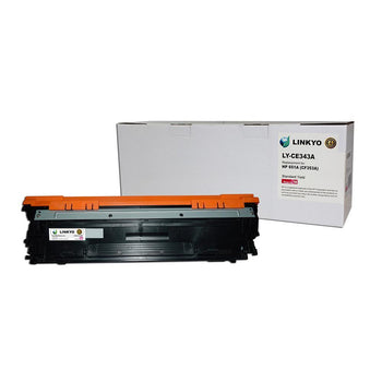 LINKYO Replacement Magenta Toner Cartridge for HP 651A CE343A