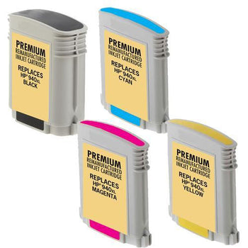 LINKYO Replacement Color Ink Set for HP 940XL (Black, Cyan, Magenta, Yellow, 4-Pack)