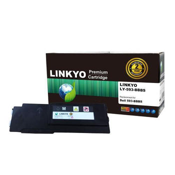 LINKYO Replacement Magenta Toner Cartridge for Dell C2660dn, C2665dnf