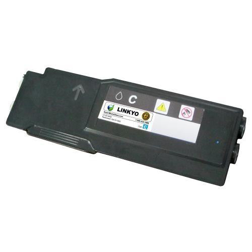 LINKYO Replacement Extra High Yield Cyan Toner Cartridge for Dell C3760, C3765