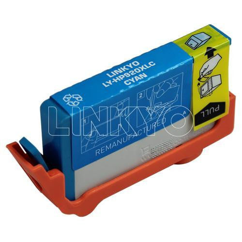 LINKYO Replacement Cyan Ink Cartridge for HP 920XL