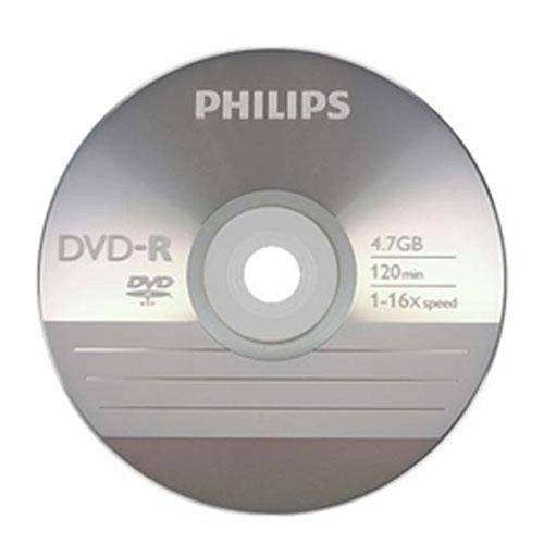 Philips Branded 16X DVD-R Media 100 Pack in Cake Box (DM4S6B00F/17)