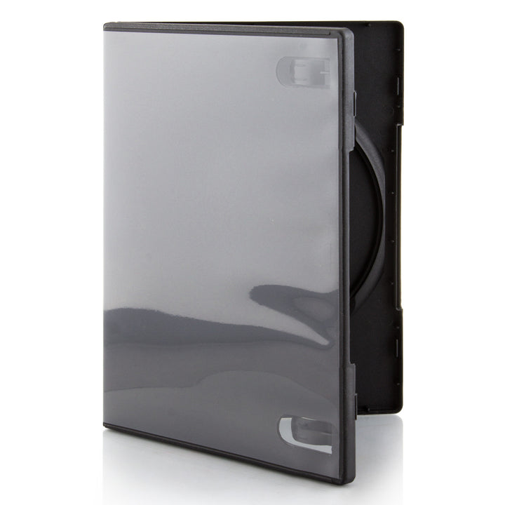 LINKYO 14mm Machine Grade Single Black CD DVD Cases - 100 Pack