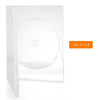 LINKYO 14mm Premium 100% New Material Single Clear CD DVD Cases - 100 Pack