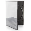 LINKYO 7mm Machine Grade Single Black CD DVD Cases - 100 Pack