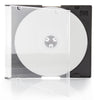LINKYO 5.2mm Premium Slim Single Black CD DVD Jewel Cases - 200 Pack
