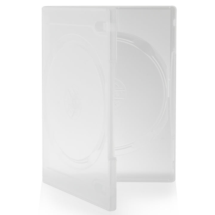 SuperMediaStore 14mm Standard Double Clear DVD Cases 100 Pack