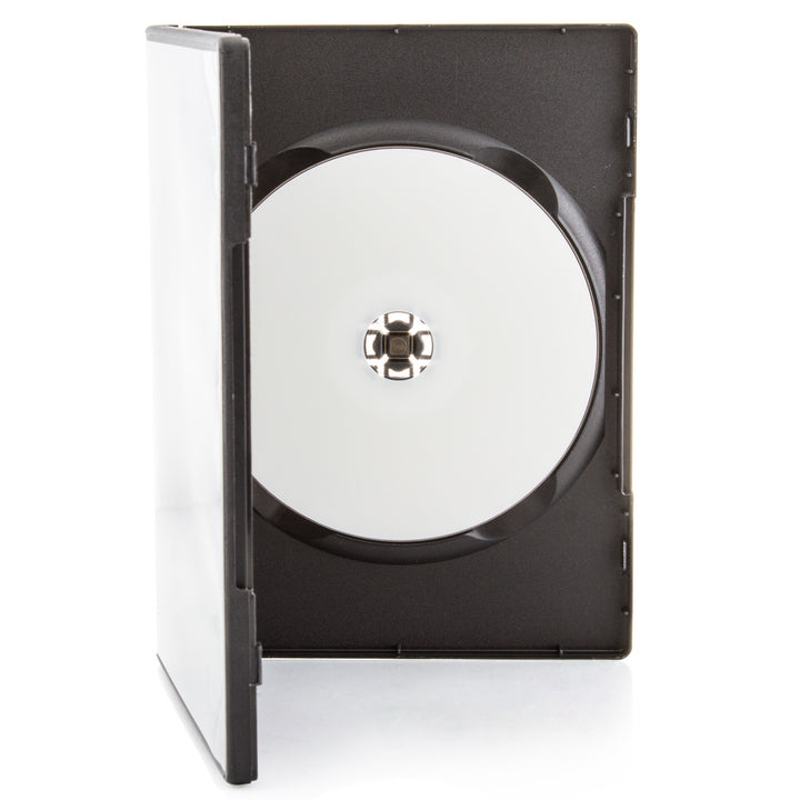 LINKYO 14mm Premium 100% New Material Single Matte Black CD DVD Cases - 100 Pack