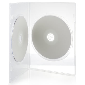LINKYO 7mm Premium 100% New Material Slim 2 Disc Clear CD DVD Cases - 100 Pack