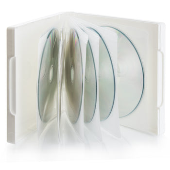 SuperMediaStore Premium PP Poly 12 Disc White CD DVD Cases - 100 Pack
