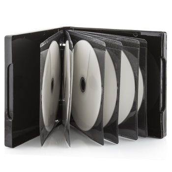 SuperMediaStore Premium PP Poly 12 Disc Black CD DVD Cases - 50 Pack