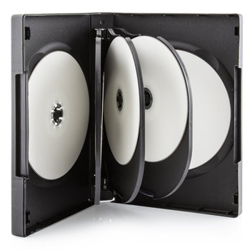 SuperMediaStore 27mm 8 Disc Black DVD Cases with 3 Trays 20 Pack