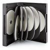 SuperMediaStore 39mm 12 Disc Black DVD Cases with 5 Trays 20 Pack
