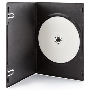 SuperMediaStore 4mm Ultra Slim Single Black DVD Case 100 Pack