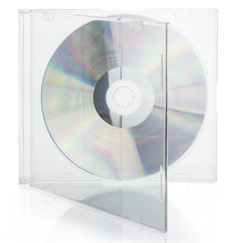 LINKYO 5.2mm Premium Slim Single Frost Clear Base CD DVD Jewel Cases - 100 Pack