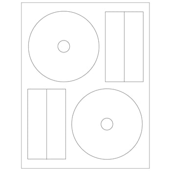 SuperMediaStore Laser / Inkjet Matte White CD Label (50 Sheets 100 CD Labels) Full Coverage 22mm