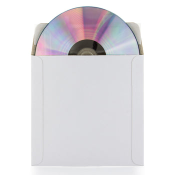 SuperMediaStore 5 x 5 Inch White Cardboard CD/DVD Mailer With Flap & Seal 25 Pack